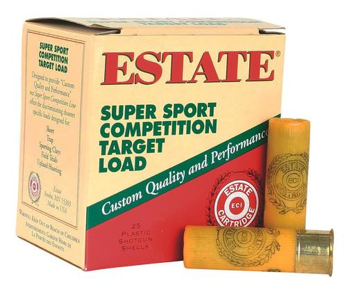 "Estate Super Sport Target 20 Ga, 2.75"", 7/8oz, 7.5 Shot, 25rd/Box"