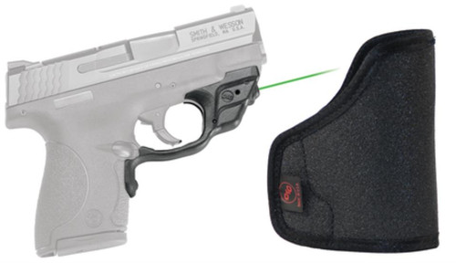 Crimson Trace Lasers Laserguard Series Fits Smith & Wesson M&P Shield Black Finish Green Laser with Holster