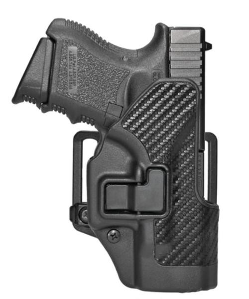 Blackhawk CQC Serpa Holster, For Glock 26/27, Carbon Fiber, Right Handed