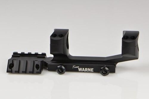 Warne Team 1 Inch Tactical 1 PC, Black, Fixed MSR for Picatinny Rail/Flat Top MSR
