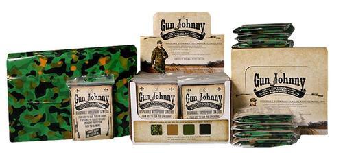 "Gun Johnny Disposable Waterproof Gun Bag Treated Plastic 12""x70"" Camo"