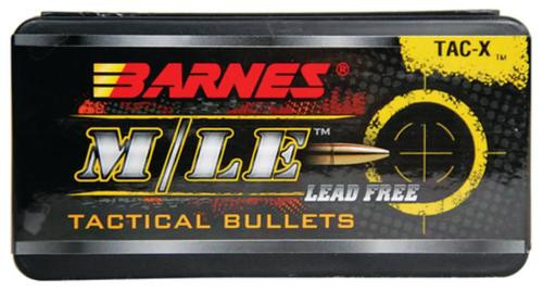 Barnes Tac-X Rifle Bullets Lead Free .223 Caliber/5.56Mm Diameter 62gr, 1:9 Inch Twist Or Faster Recommended Boattail, 50rd/Box