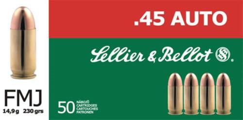 Sellier and Bellot 45 G.A.P. 230 FMJ 50Rd/Box