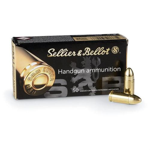 Sellier & Bellot 9mm 124gr, FMJ, 50rd Box