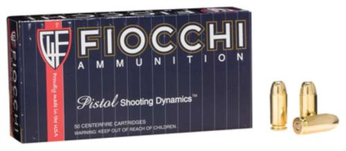 Fiocchi Shooting Dynamics .40 S&W 165gr, Full Metal Jacket Truncated 50rd Box