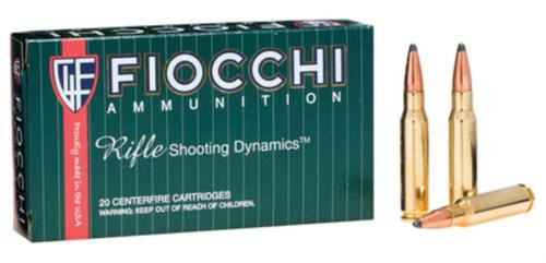 Fiocchi Shooting Dynamics .308 Winchester 165gr, Boattail Soft Point 20rd Box