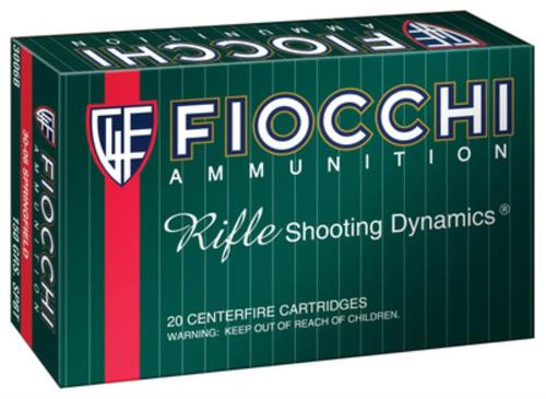 Fiocchi Shooting Dynamics .30-06 Springfield 150gr, Pointed Soft Point 20rd Box