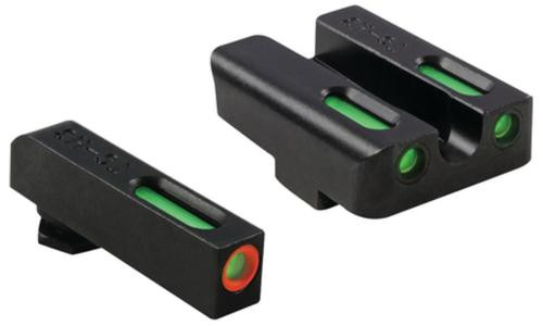 Truglo Brite-Site TFX Pro for Glock, Green Rear Green with Orange Focus Lock Front Sight