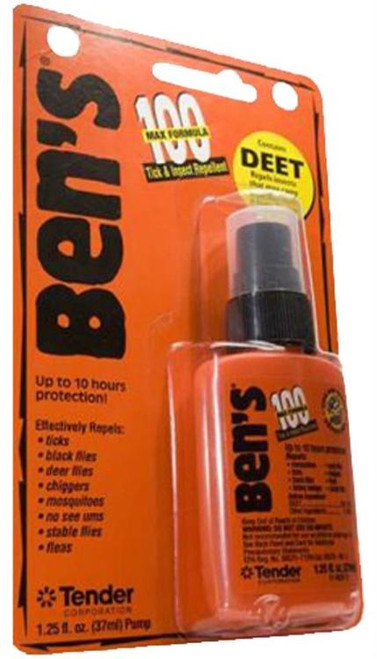 Adventure Medical Bens 100 Max Tick/Insect Repel 1.25oz Orange 12Case