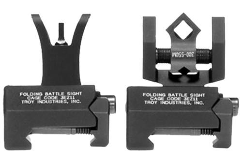 Troy Battle Sight Micro Set HK Weapons, Raised Top Rail Black