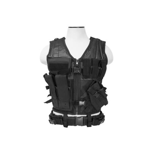 NcStar Tactical Vest, Magazine Pouches, Holster, And Pistol Belt, Black