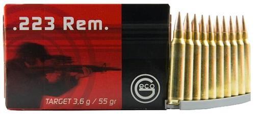 Ruag Geco .223/5.56 NATO 55gr, FMJ, 50rd/Box, 20 Box/Case