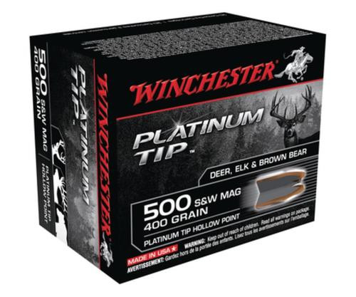 Winchester Platinum Tip .500 Smith & Wesson 400gr, Hollow Point