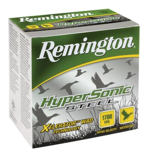 "Remington HyperSonic Steel 12 Ga, 3.5"", 1700 FPS, 1.375 oz, 4 Shot, 25rd/Box"
