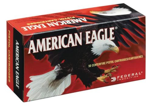 Federal American Eagle 9mm 115gr, Full Metal Jacket, 50rd/Bx