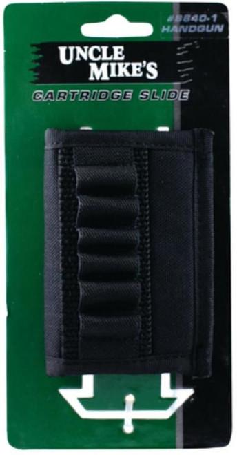 "Uncle Mike's Cartridge Slide Handgun 40-1, Fits Belts up to 2.25"", Black Nylon"