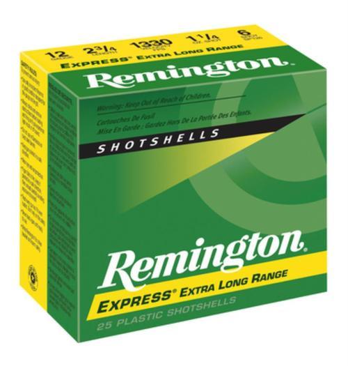 "Remington, Express Long Range, 12 Gauge, 2.75"", 3 Dram, 1.25 oz., Lead, 25rd Box"