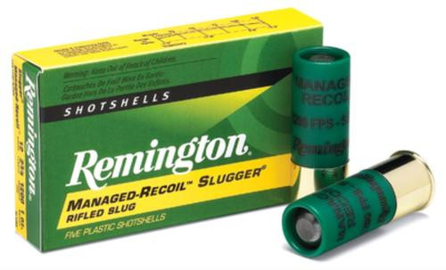 "Remington Managed Recoil 12 Ga, 2.75"", 1oz, Rifled Slug, 5rd/Box"
