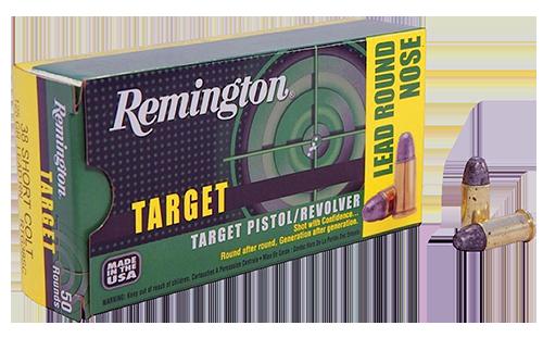 Remington Target .38 S&W 146 Grain Lead Round Nose