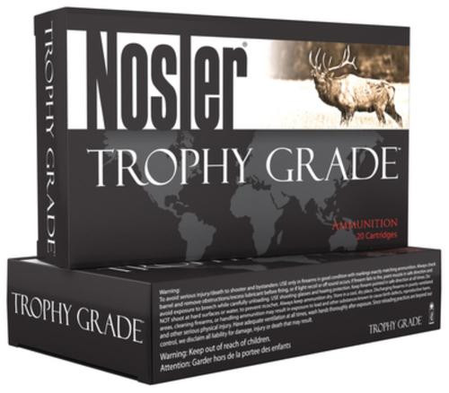 Nosler Trophy Grade .22-250 Remington 64gr, Bonded Solid 20rd Box