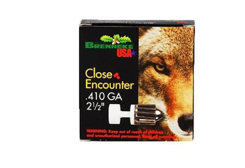 "Brenneke Close Encounter Lead 410ga, 2.5"", 1/4oz, Sabot Slug, 5rd/Box"