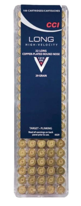 CCI .22 Long, HV Target/Plinking, 29 Gr, Round Nose, 100rd/Box