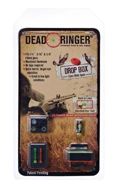 Dead Ringer Drop Box Sight, Lexan Orange/Green Alum, Black