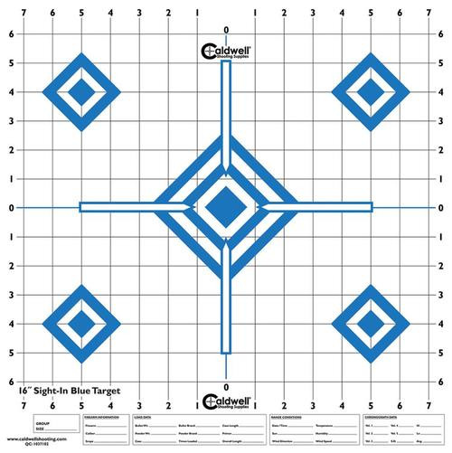 Caldwell High Visibility Sight In Targets 10pk Diamond Blue