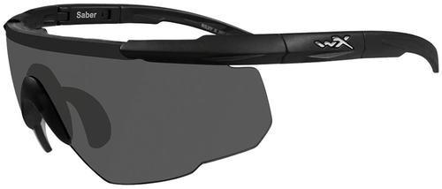 Wiley X Eyewear Saber Advanced Safety Glasses Smoke/Matte Black