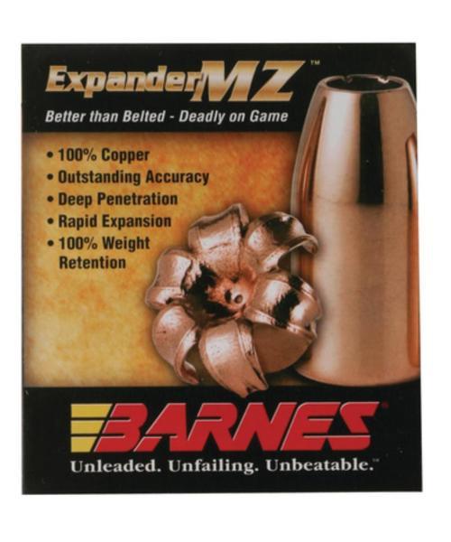 Barnes Expander MZ Muzzleloader Bullet .50 Caliber .451 Diameter 300 Grain 15rd/Box