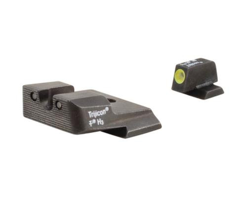 Trijicon Heavy Duty Night Sights Yellow Front Outline Smith & Wesson M&P