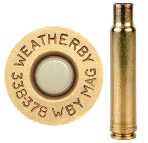 Weatherby Unprimed Brass 338-378 Weatherby Mag Lightweight 20 Per Box