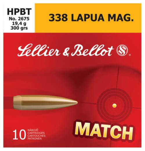 Sellier and Bellot .338 Lapua Mag Hpbt 300Gr 10Rd/Box