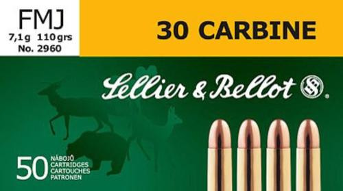 Sellier and Bellot 30 Carbine 110 FMJ 50Rd/Box
