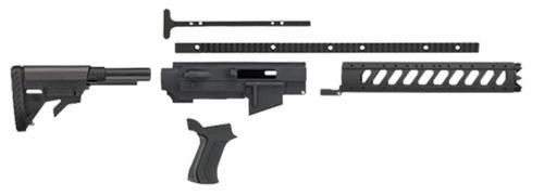 Adv Tech Ruger 10/22 Rifle 6 Pos 6Side Forend Alum Stock Black