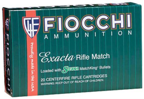 Fiocchi Exacta .30-06 Spring 180gr, Sierra MatchKing Boat-Tail Hollowpoint, 20rd Box