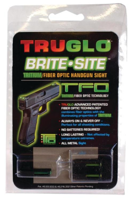 Truglo Tritium/Fiber Optic Combo For Glock Green Front Yellow Rear