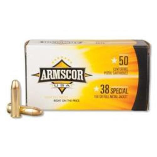 Armscor .38 Special, 158gr, FMJ, 50rd Box