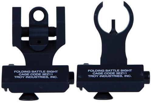 Troy 45 Degree Folding BattleSights HK Front and Round Rear Black
