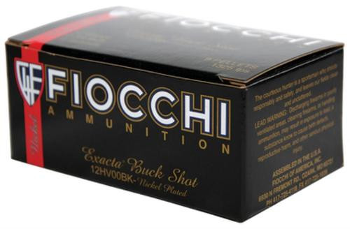 "Fiocchi Exacta Buckshot 12 Ga, 2.75"", 1150 FPS, 9 Pellets, 00 Buckshot, 10rd Box"