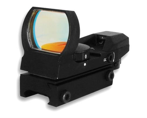 NcSTAR Red Dot Reflex Sight, 4 Reticles, Weaver Base, Black