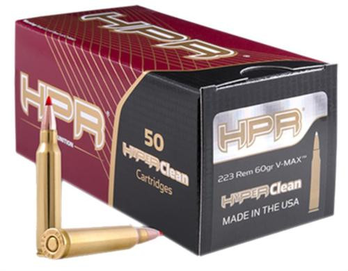 HPR Ammunition 223 Rem/5.56 NATO V-Max 60 gr, 50rd/Box, 20 Box/Case