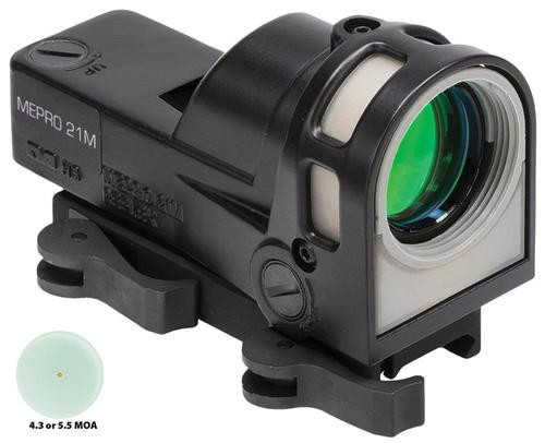 Meprolight M21 D5 Mepro 21 1x 30mm Obj Unlimited Eye Relief 5.5 MOA Triangle, QR Mount