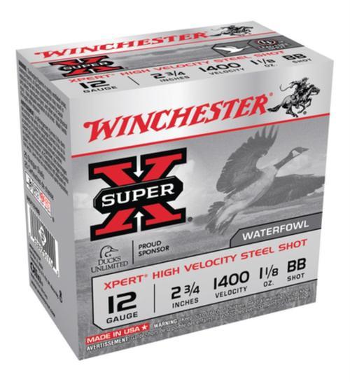 """Winchester Super-X Xpert Steel Waterfowl Load12 Ga, 2.75"""", 1400 FPS, 1.125oz, BB Steel Shot, 25rd/Box"""