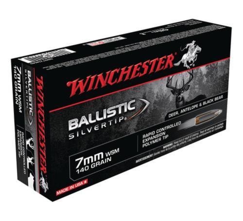 Winchester Supreme 7mm Win Short Mag Ballistic Silvertip 140gr, 20rd Box