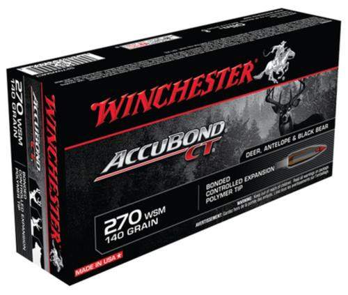 Winchester Supreme 270 Win Short Mag AccuBond CT 140gr, 20Box/10Case