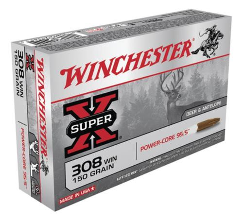 Winchester Super-X Power Core .308 Winchester 150gr, Power Core 95-5 20rd Box