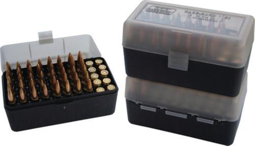 MTM Case Gard Case-Gard 50 Rifle Ammo Boxes .222 & .222 Magnum Clear Green/Black