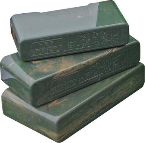 MTM 20rd Slip-Top Med Rifle Ammo Box Smoke Poly