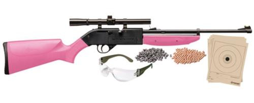 Crosman Air Guns Model 760 Pumpmaster Kit .177 Caliber Pink Stock and Forend with 4x15mm Scope